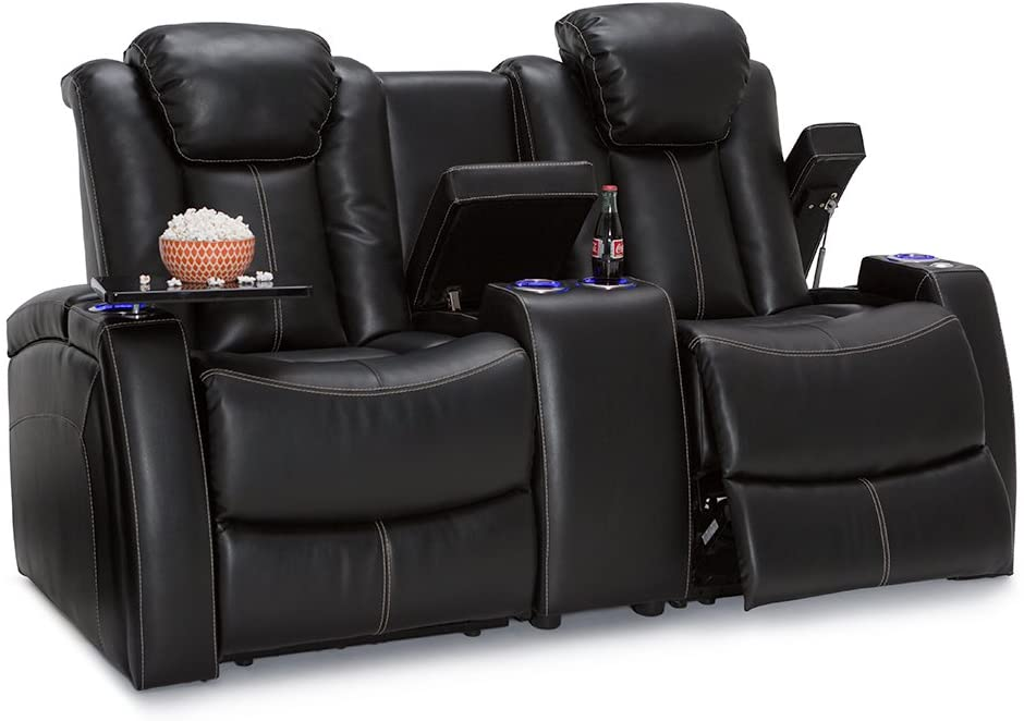 seatcraft omega home theatre chair isolated on white background