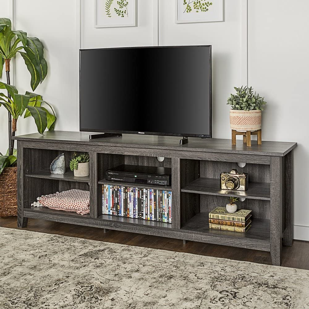 home accent furnishings new television stand in charcoal finish