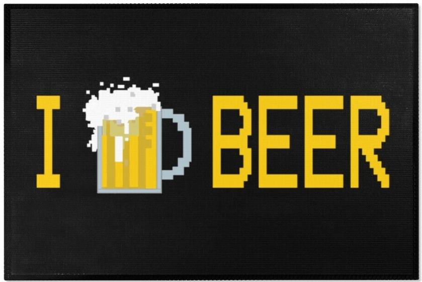 I Love Beer Rug