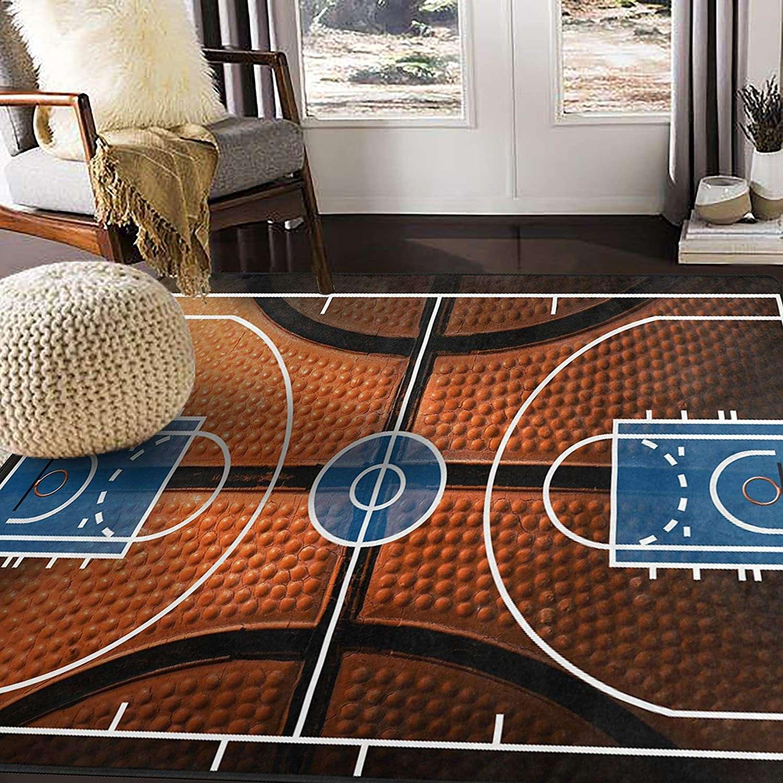 alaza basketball print court sport area rug for living room bedroom