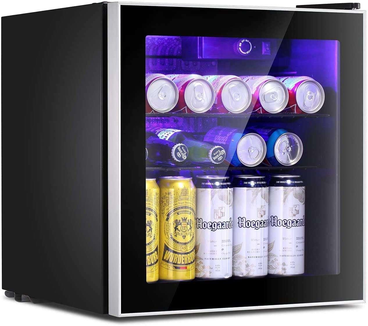 antarctic star mini fridge cooler drinks inside isolated on white background