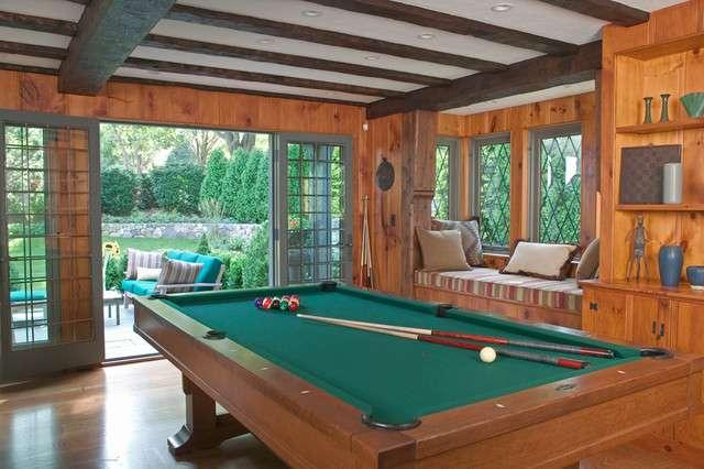classic cottage style pool room design idea