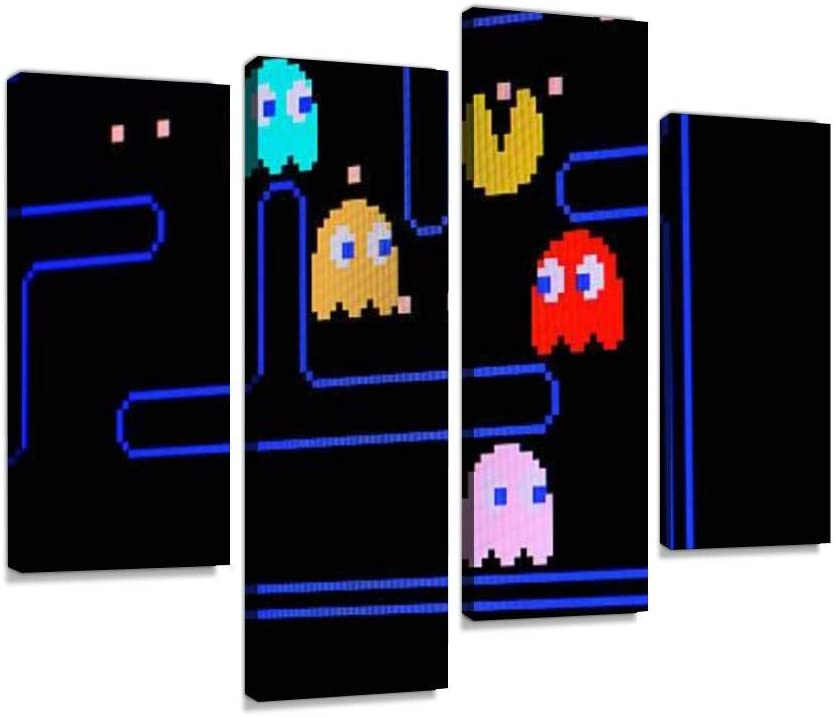 d1eep vintage pacman video game canvas wall art