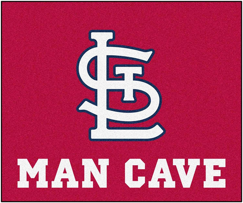 fanmats st. louis cardinals (stl) man cave rug