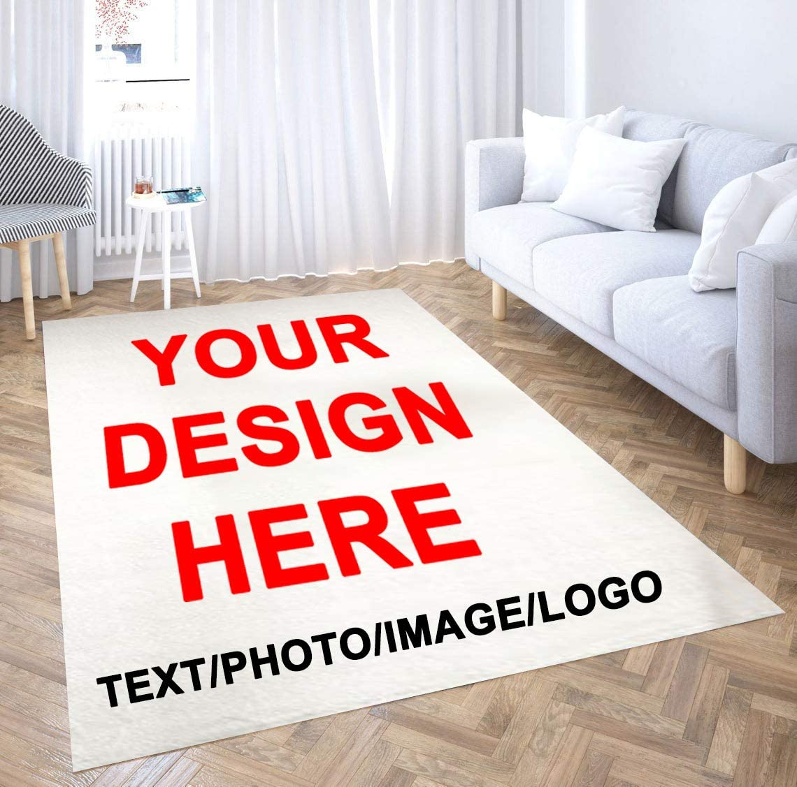 ibedding custom personalized rug with logo