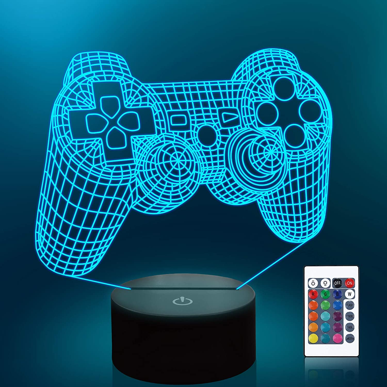 lampeez 3d gamepad lamp with remote control
