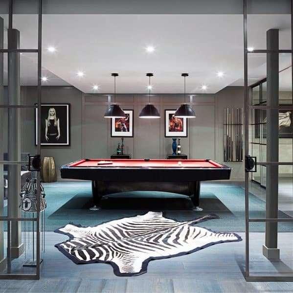 modern getaway themed pool room design idea