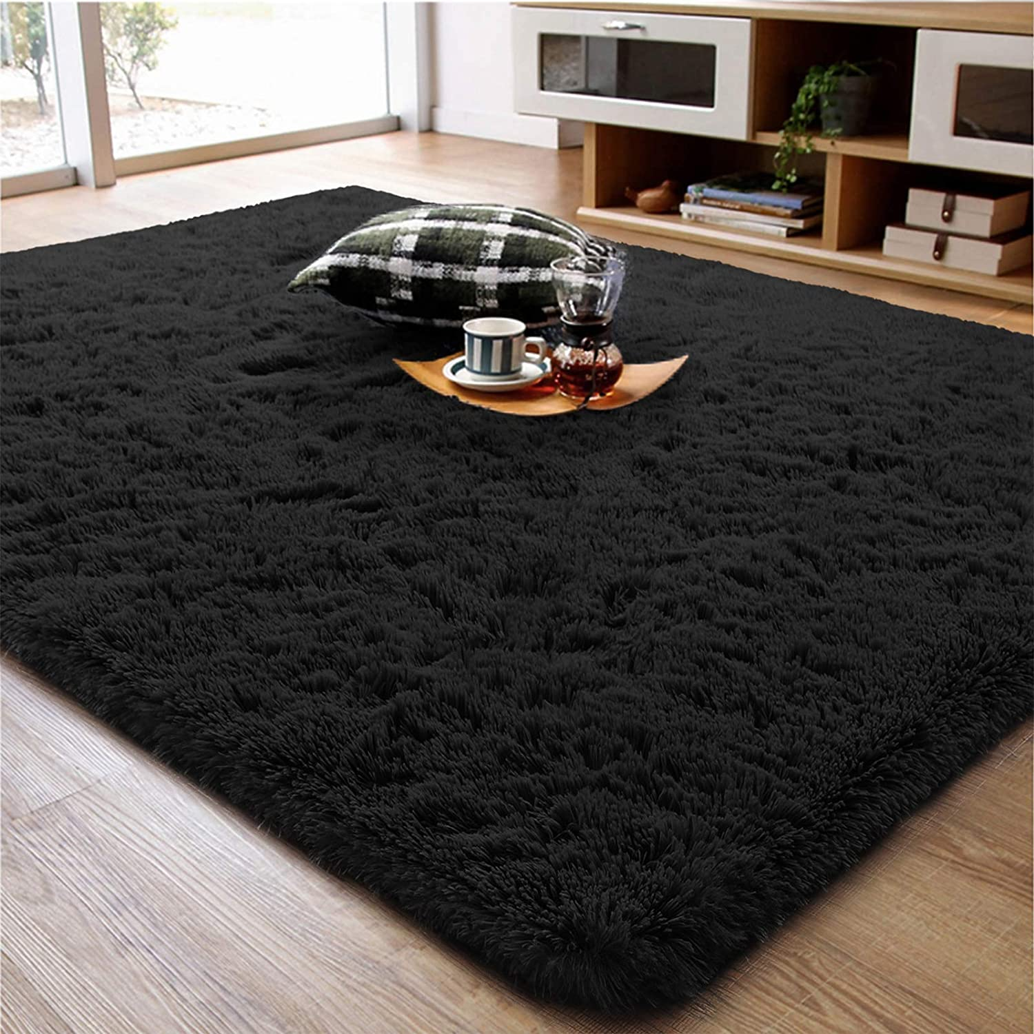 ompaa soft fluffy area rug for living room