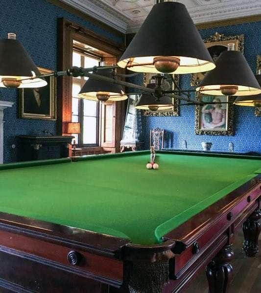valiant victorian themed pool room design idea