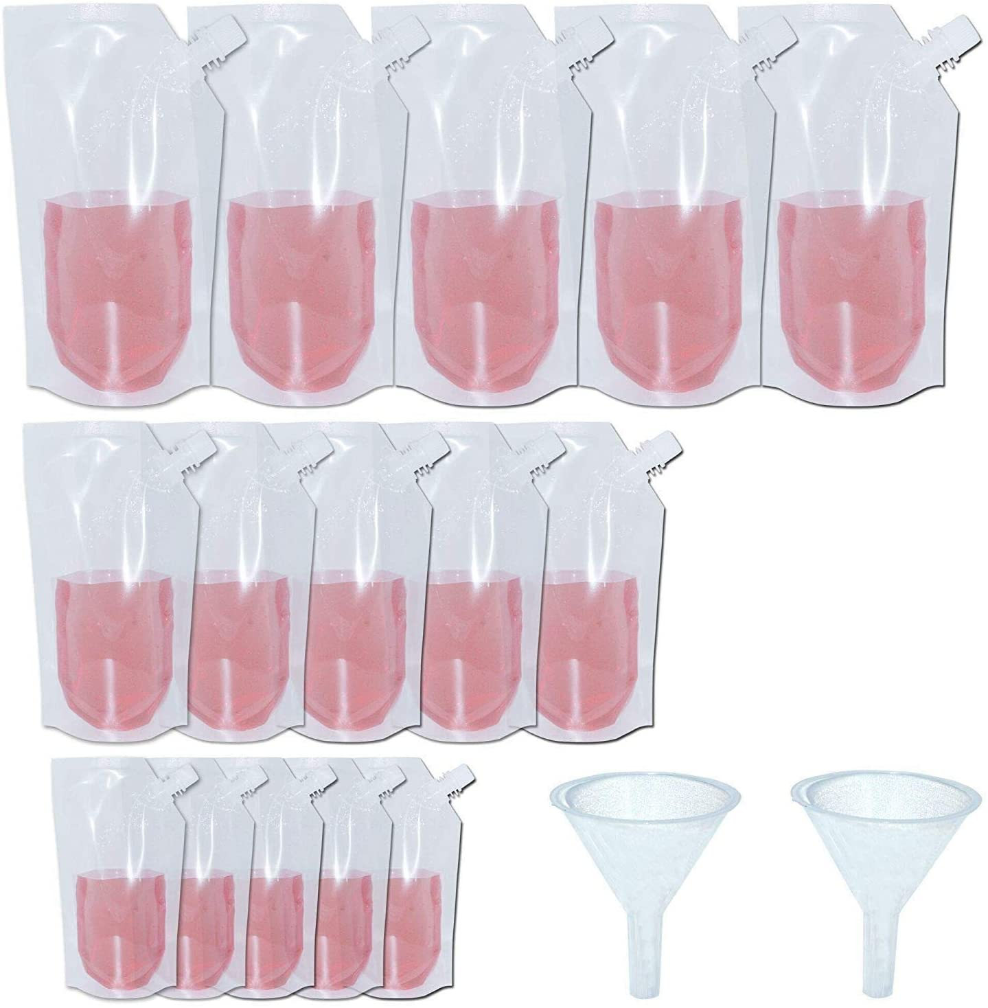 yushulin concealable collapsible liquor bags with funnel