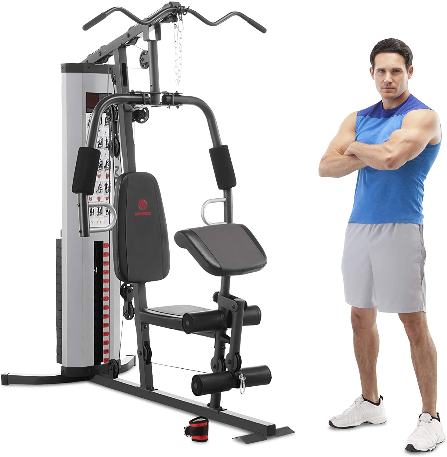marcy mwm 988 total multifunction steel home gym