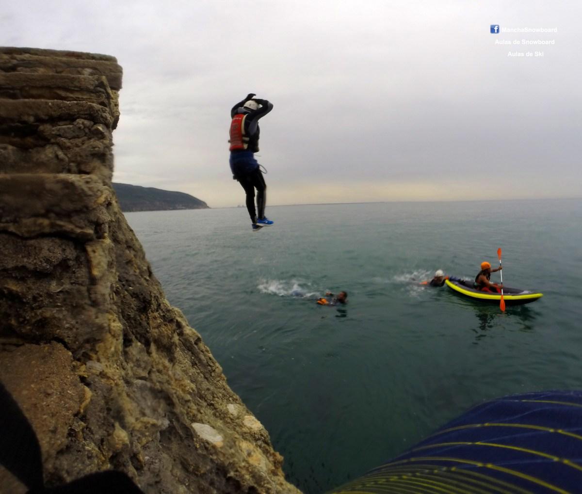 coasteering portinho arrábida serra da arrabida mancha instrutor