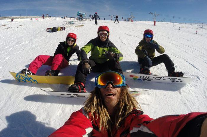 aulas snowboard esqui ski class skiresort insructor instrutor escola escuela