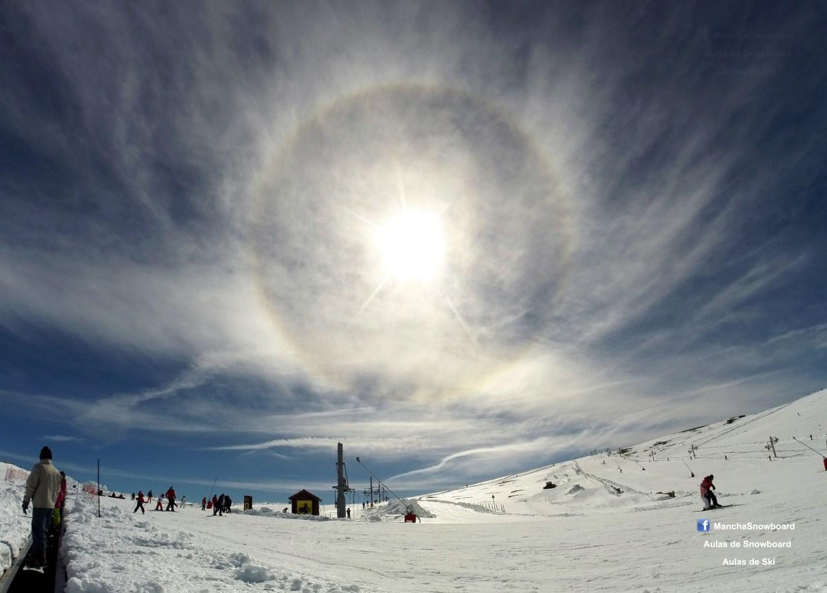 ski resort serra estrela sun halo olympic camp portugal