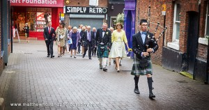 Professional bagpiping services