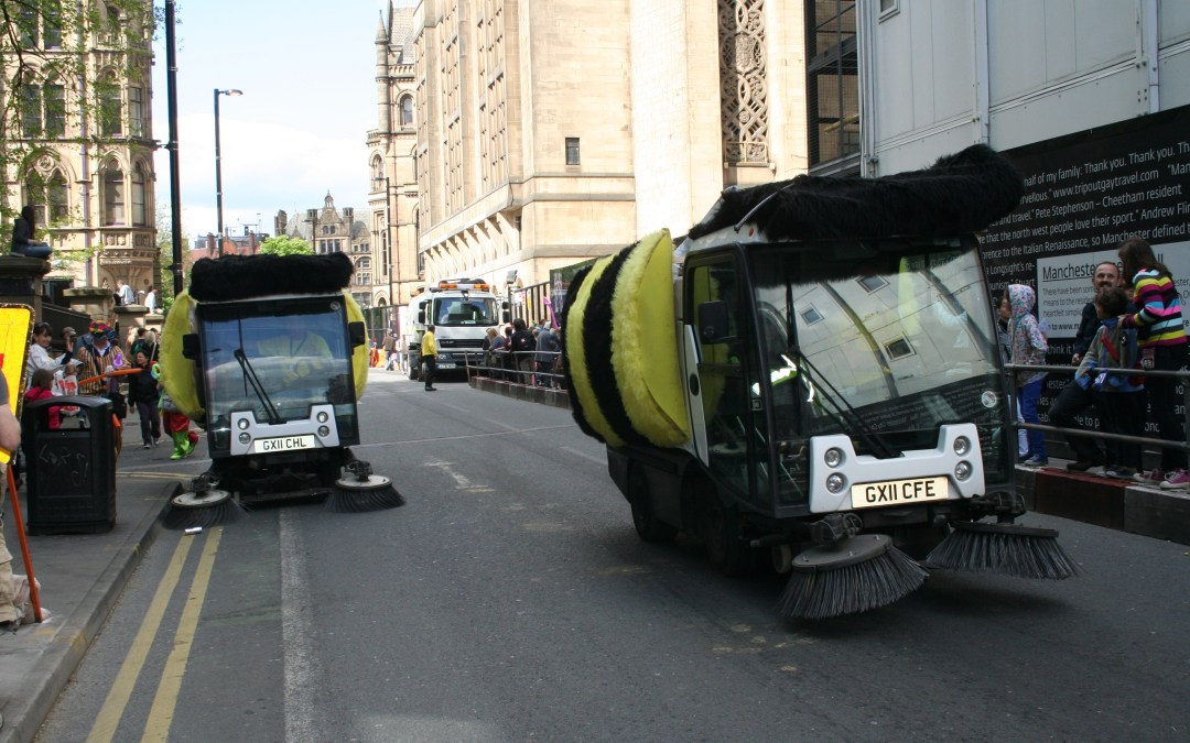 The Street Sweeper Bees of Manchester Day Parade