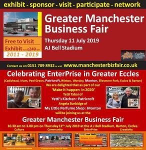 Celebrating Greater Eccles Manchester Biz Fair exhibitors