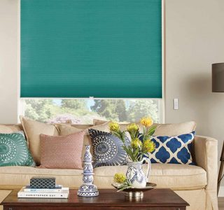 DARBY TEAL  Honeycomb Blinds