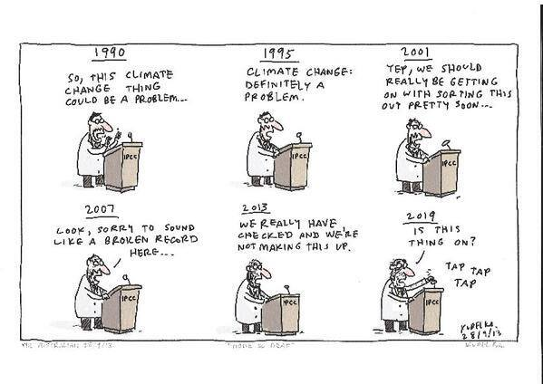 "IPCC scientist: ""Is this microphone on"" (Cartoon) #"