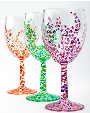 Paint your own elegant wine glass, and more.