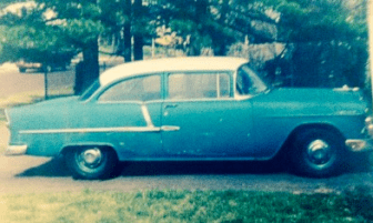 Mom's '55 Chevy, circa 1995, when she sold it after 40 years.