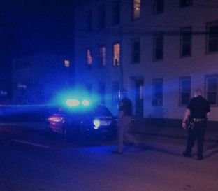 Scene of a shooting outside a multi-family home on Beech Street.