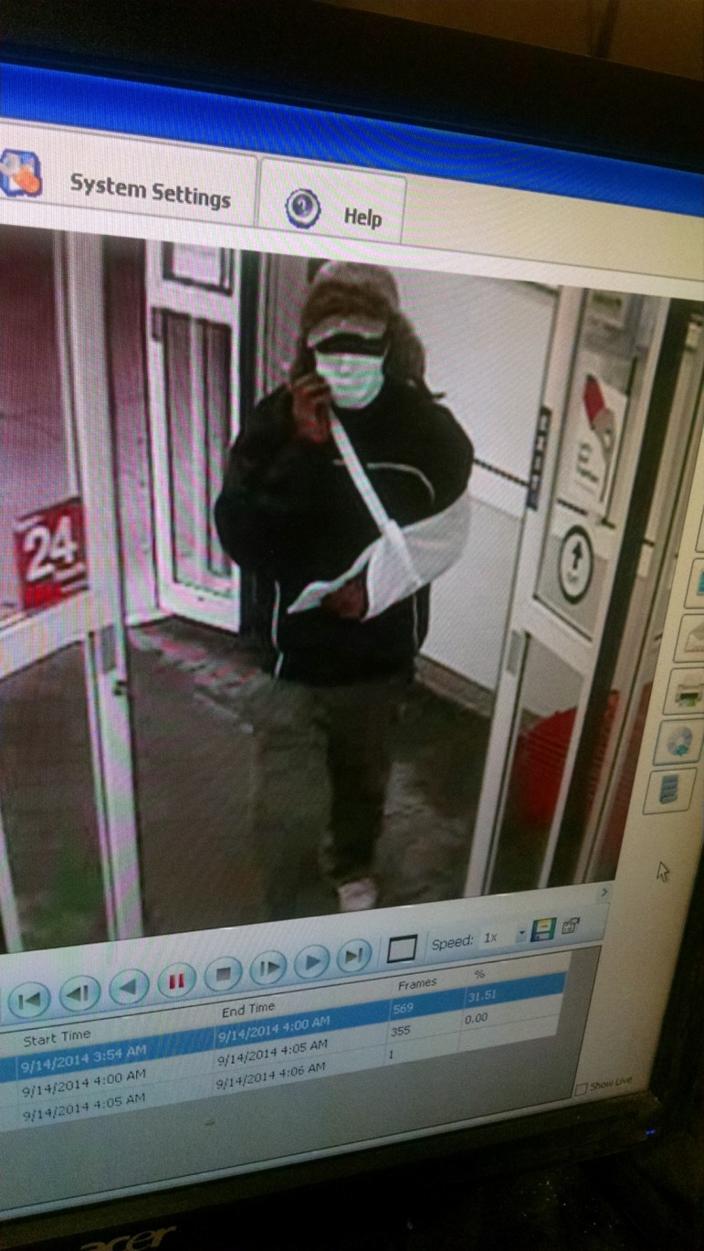 Suspect in CVS oxycodone robbery.