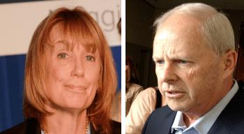 Gov. Maggie Hassan, left, will debate her opponent, Republican Walt Havenstein, on Oct. 22 on NH1 TV.