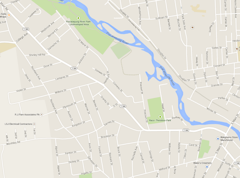 Map of Varney Street in Manchester, NH