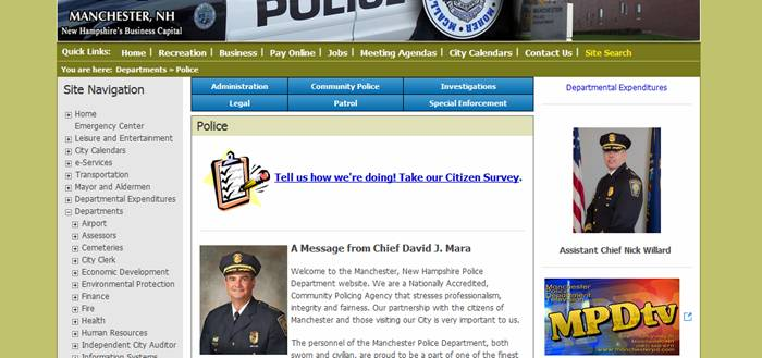 MPD Online Citizens Survey.