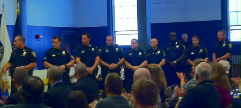 Manchester Police Warrant Impact Team was honored Sept. 22, 2014.