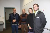 Mohammed Kennate and Omar Ouanzal of Moracco, U.S. Dept. of State interpreter Brandie Brunner and World Affairs Council Asso. Dir. Tim Horgan observing elections at Ward 3.