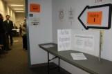 Voter registration table at Ward 3.