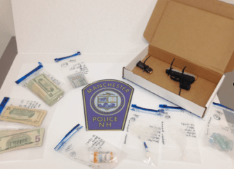 Items confiscated during arrest.