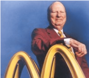 Richard McDonald, of Manchester, NH, founded McDonald's with his brother, Maurice.