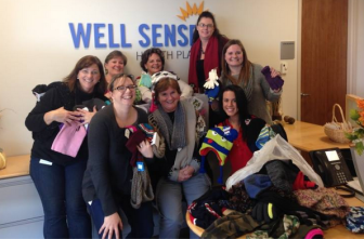 The Well Sense team collected hats and gloves for visitors of the Nashua Soup Kitchen and Shelter, Inc.