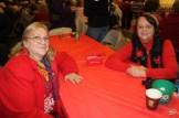 Sisters Theresa Ahern and Gloria Drouin enjoying the Christmas party at the PAL center.