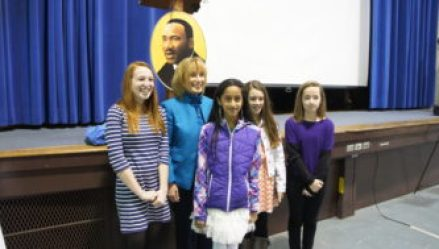 Gov. Maggie Hassan with Art & Essay Winners