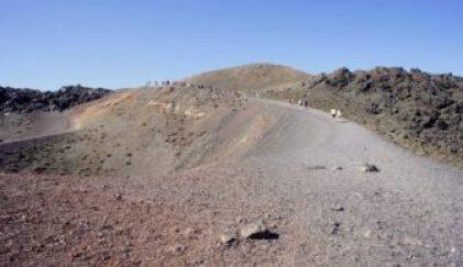 The long hike up Nea Kameni