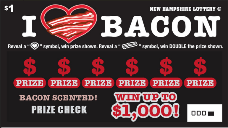Mmm... bacon lottery ticket!