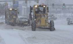 Plows on the move.