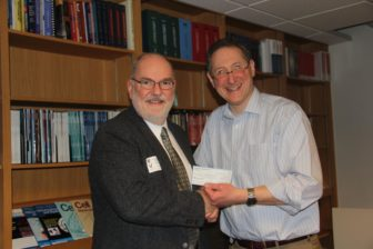 Dr. Andrew Talger, left, and Ron Geoffrey