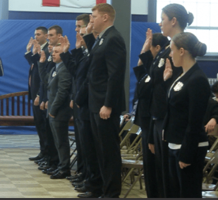 New Manchester Police Officers sworn in.