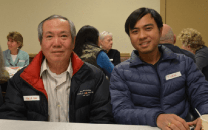 Tuan and Hiep are Vietnamese immigrants who attended the Communication Cafe.