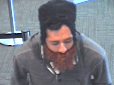 Citizens bank robber, from surveillance footage.