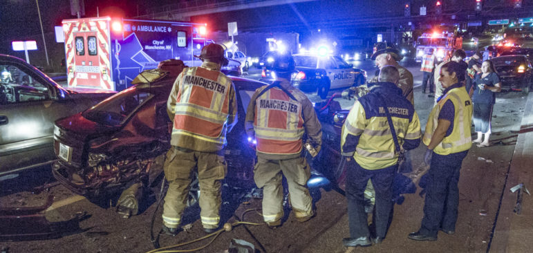 Rescuers had their hands full Thursday night following a multi-car crash.