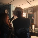 Sharon Curole, left, and Kriss Blevens, taking in the decor at the new salon.