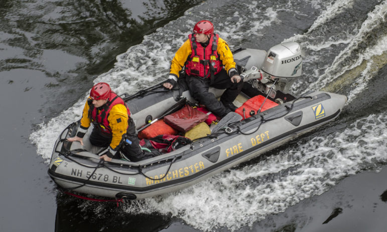 Search of the Merrimack River for a man believed to have drowned on Monday.