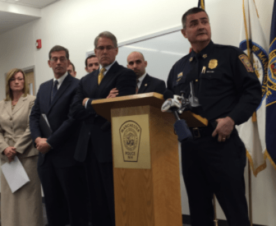 Chief David Mara during a 2014 press conference at police headquarters.