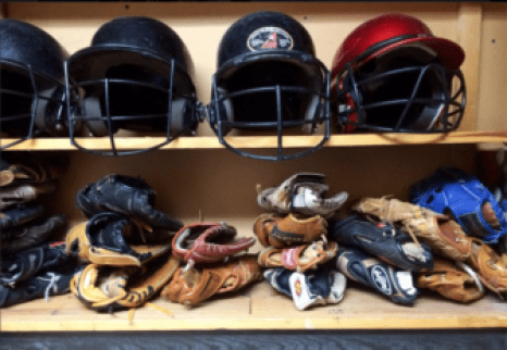 Equipment donated to Central Little League by Project Play.